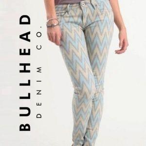 Bullhead Black | Sky Blue & Gray Chevron Jeans - 1